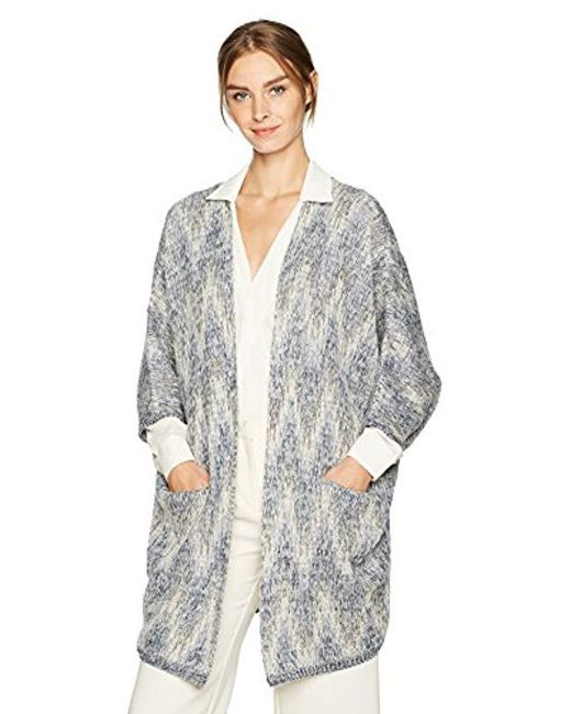 Lucky Brand - Gray Ashley Cocoon Sweater - Lyst