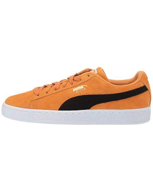 Lyst - PUMA Suede Classic Sneaker in Orange for Men - Save 14% db2d3d635