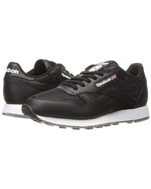 c52a5098dd348 ... Reebok - Black Classic Leather Nm Fashion Sneaker for Men - Lyst ...