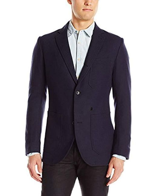 G-Star RAW - Blue Blake Wool Blazer for Men - Lyst