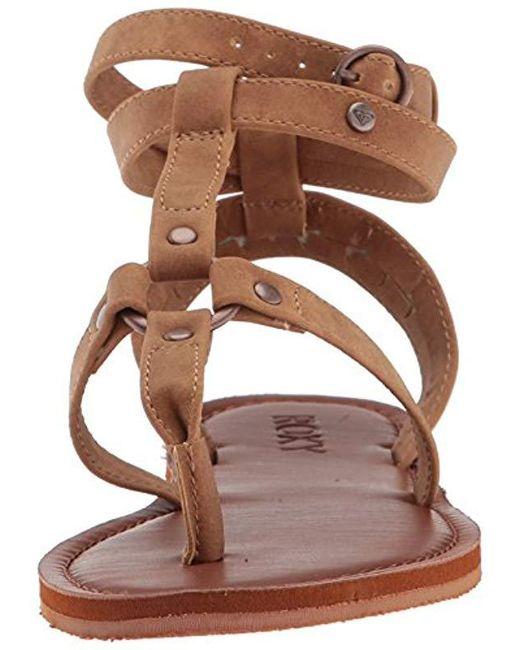 a231452ac05e3 Lyst - Roxy Soria Sandal Flat in Brown - Save 30%