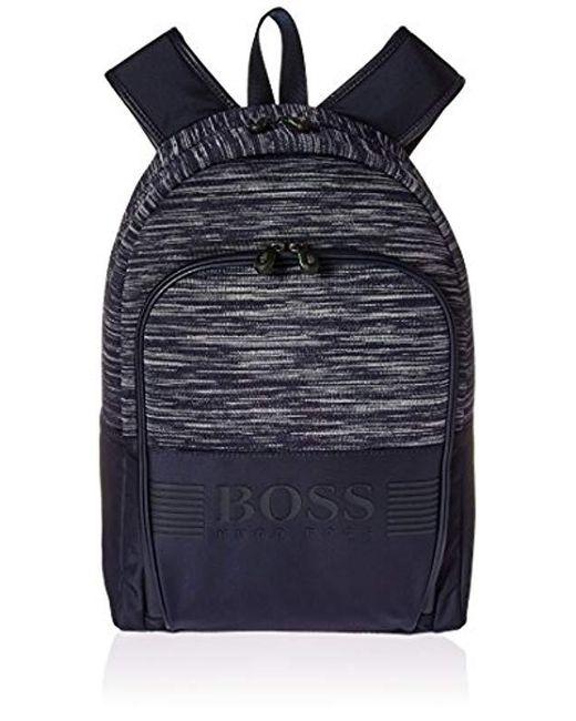 061776cebb4 BOSS - Blue Boss Green Pixel Knit Melange Backpack for Men - Lyst ...