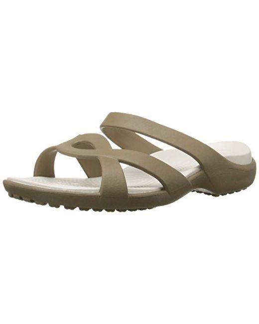 f81e53ed5f48 Lyst - Crocs™ Meleen Twist Sandal in Natural - Save 29.411764705882348%