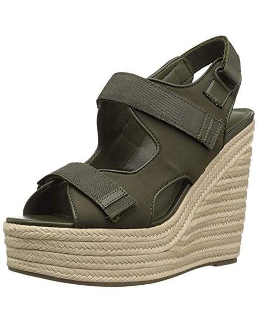 Kendall + Kylie Green Geah Espadrille Wedge Sandal
