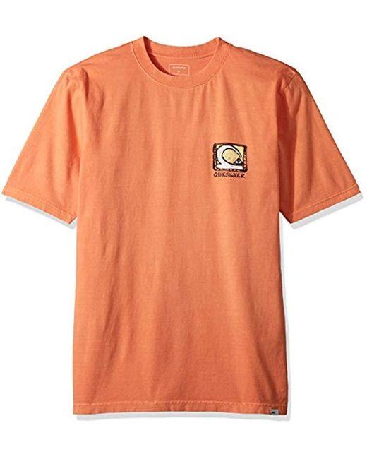 Quiksilver - Orange Short Sleeve Durable Dens Way for Men - Lyst