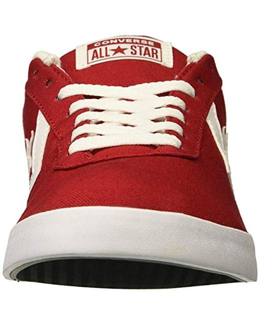 7f6e6adb2a8a31 ... Converse - Red Point Star Canvas Low Top Sneaker for Men - Lyst ...