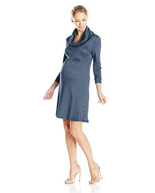 Michael Stars - Blue Maternity Shine Cowl Neck Dress - Lyst