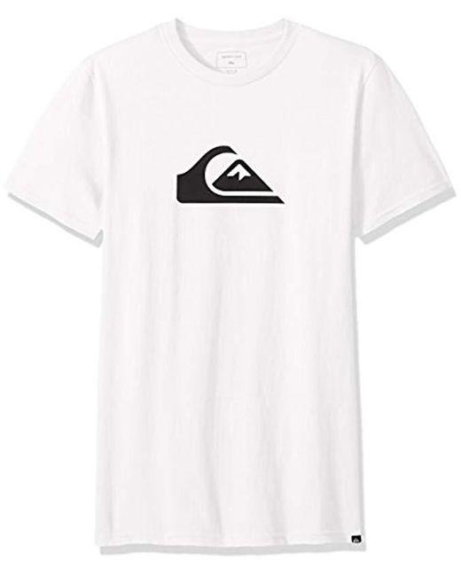 Quiksilver - White Comp Logo Tee for Men - Lyst