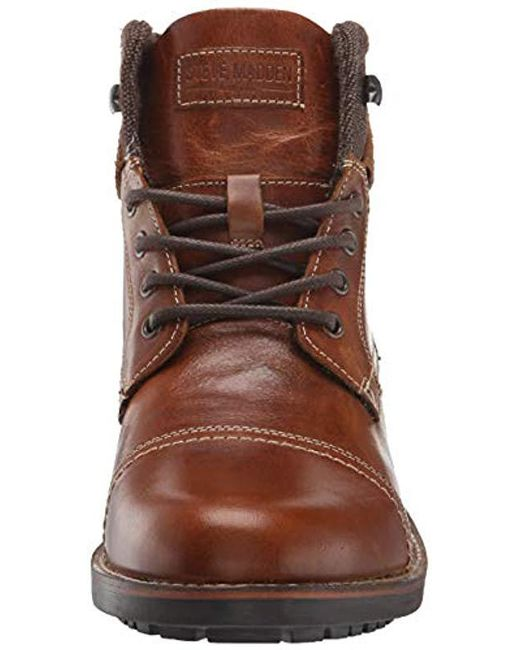 05a96ffce32 Lyst - Steve Madden Lundin Combat Boot in Brown for Men - Save 49%