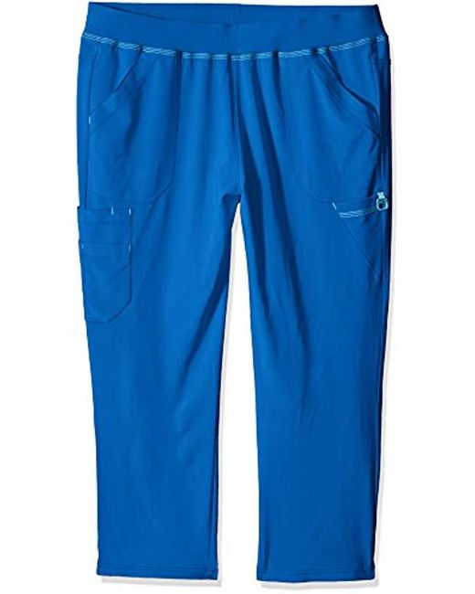 8a104b1f4be Carhartt - Blue Petite Plus Cross-flex Size Straight Leg Knit Waist Cargo  Scrub Pant ...