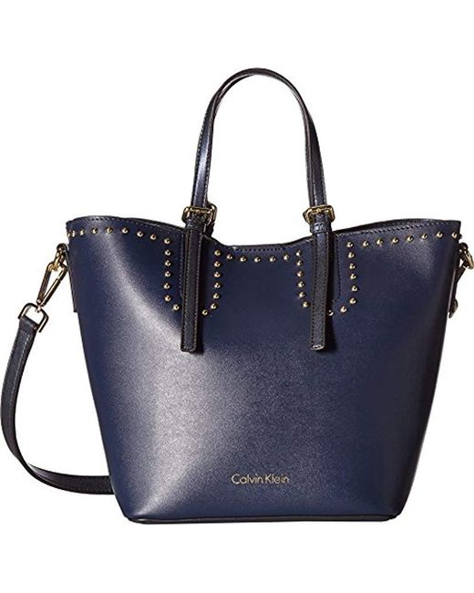 Calvin Klein - Blue Jill Double Face Nappa Novelty East/west Tote - Lyst