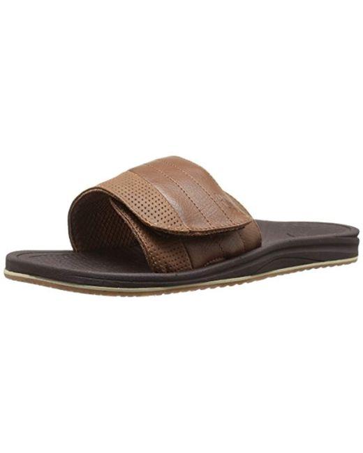 New Balance Brown Recharge Slide Sandal for men