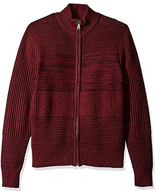 Guess - Red Marled Sweater for Men - Lyst