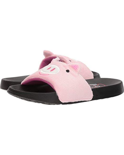 Skechers - Pink Bobs 2nd Take-plush Animal Slide Sandal - Lyst
