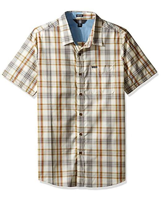 Volcom - White Surplus Short Sleeve Shirt for Men - Lyst