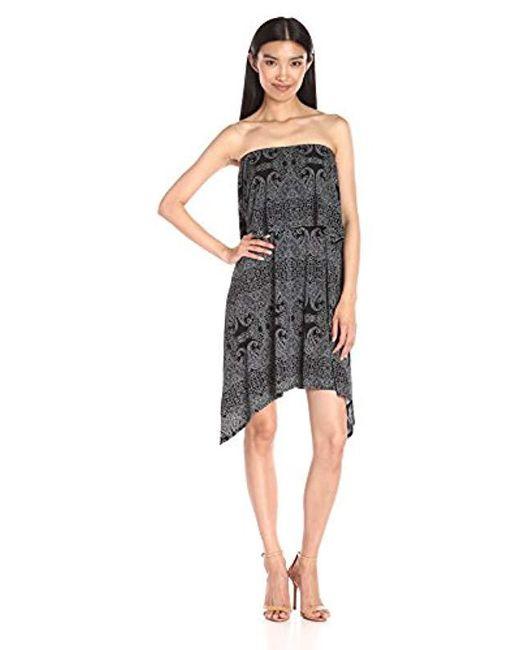 BCBGeneration - Black Strapless Popover Dress - Lyst