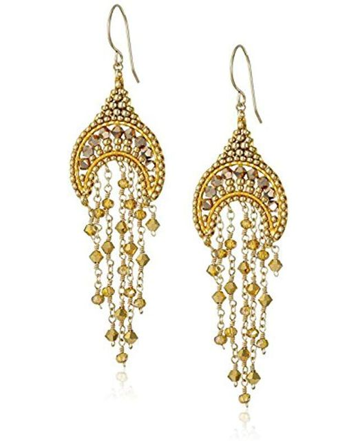 83153a3c3 Miguel Ases - Metallic Small Topaz Hydro-quartz Crescent Dangle Drop  Earrings - Lyst ...