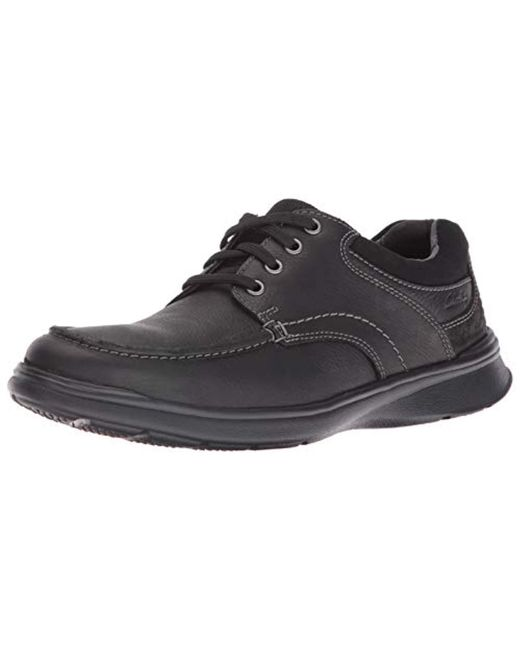 b4a7b8652389 Clarks - Black Cotrell Edge Leather Sneaker - Wide Width Available for Men  - Lyst ...