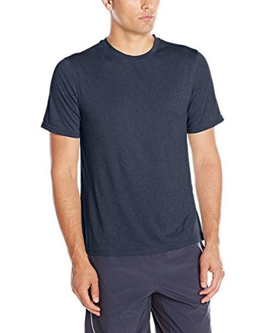 Hanes - Blue Sport Heathered Performance T-shirt for Men - Lyst