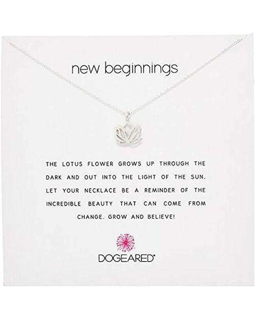 Dogeared - Metallic Reminders New Beginnings Rising Lotus Pendant Necklace - Lyst