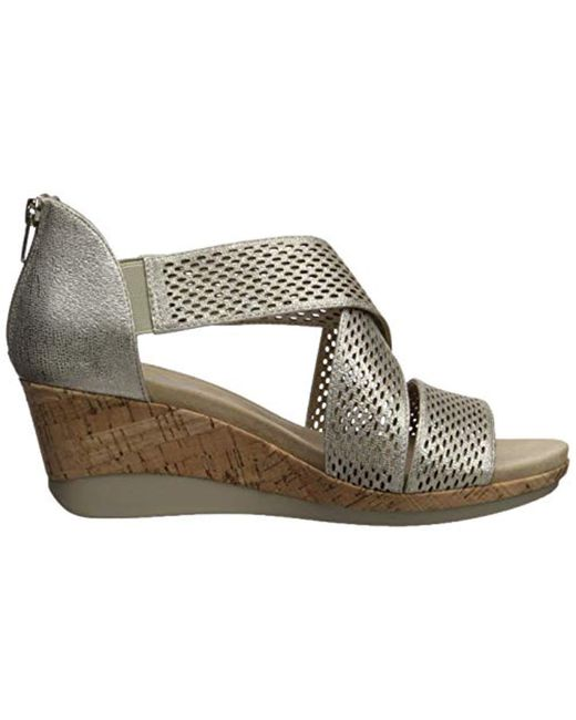 5cfb2c2a2a Lyst - Anne Klein Ak Sport Pebbles Wedge Sandal, Metallic Taupe, 10 ...