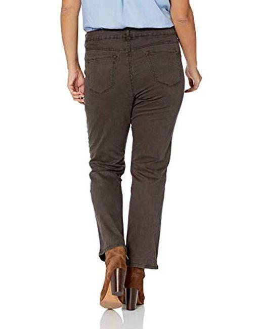 792c387e461ff ... Bandolino - Brown Plus Size Mandie Signature Fit 5 Pocket Jean - Lyst  ...