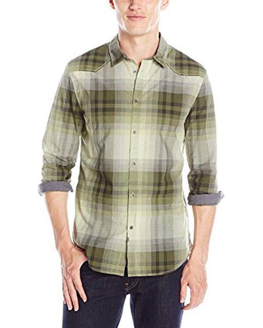 Calvin Klein - Green Jeans Ombre Plaid Shirt for Men - Lyst