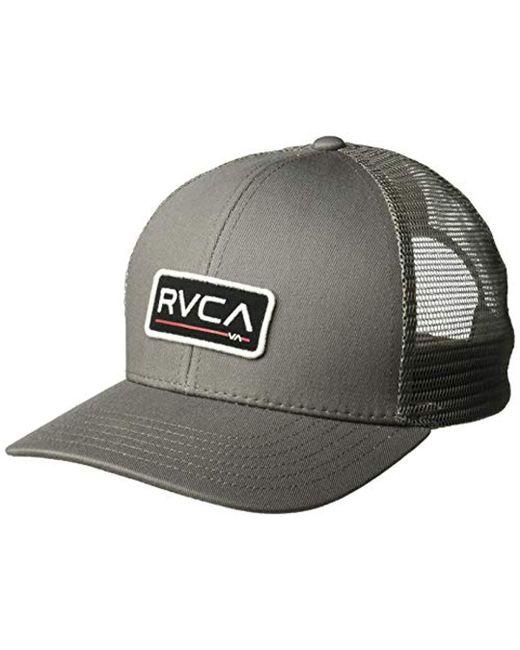 Lyst - RVCA Ticket Trucker Ii (black olive) Caps in Gray for Men ... 928afaea4e3f