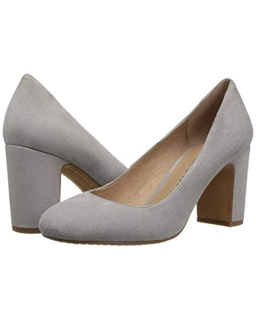 305e05915 ... 206 Collective - Gray Coyle Round Toe Block Heel Pump-high - Lyst ...
