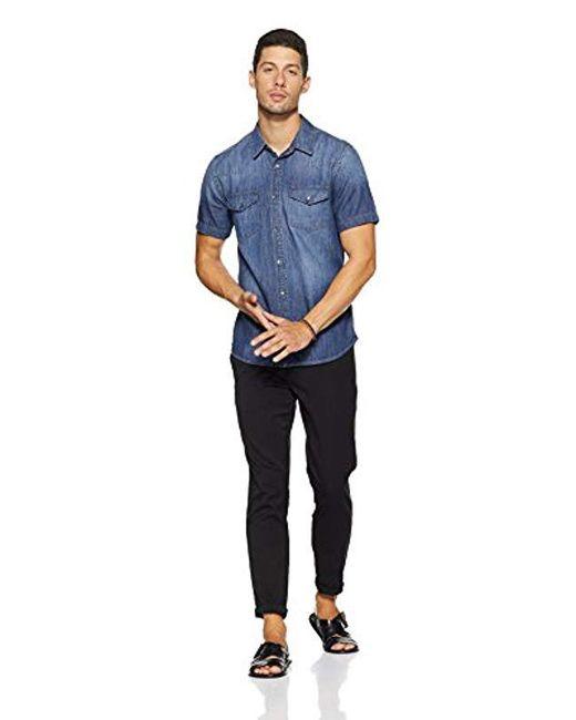 d0b29024b6 Lyst - Guess Western Slim Denim Shirt in Blue for Men - Save 23%