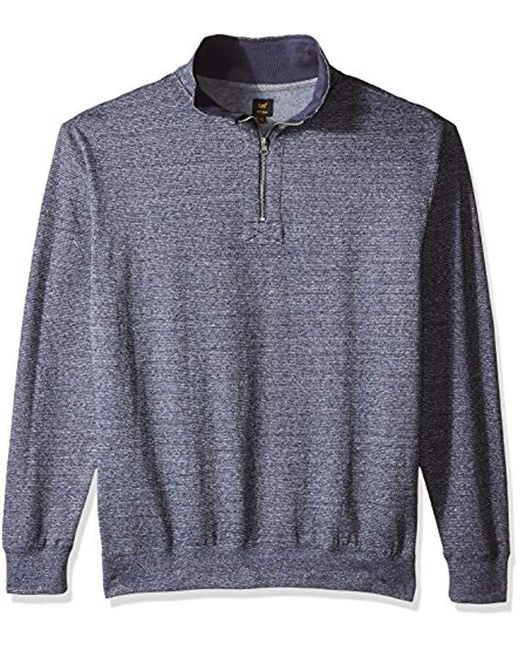 Lee Jeans - Blue Mock Neck Quarter Zip Sweater (regular And Big And Tall Sizes Available) for Men - Lyst