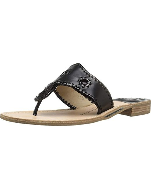 Jack Rogers - Black Palm Beach Narrow Dress Sandal - Lyst