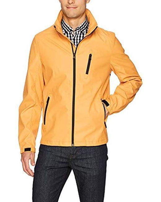 Perry Ellis - Yellow Rain Jacket for Men - Lyst