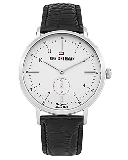 2591a68ca Ben Sherman - 'the Dylan Professional' Quartz Stainless Steel And Leather  Casual Watch, ...