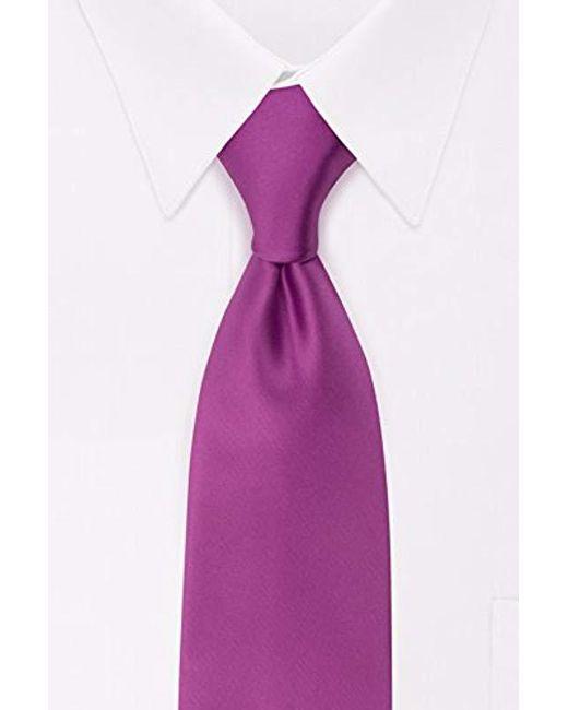 Geoffrey Beene - Purple Satin Solid Tie for Men - Lyst