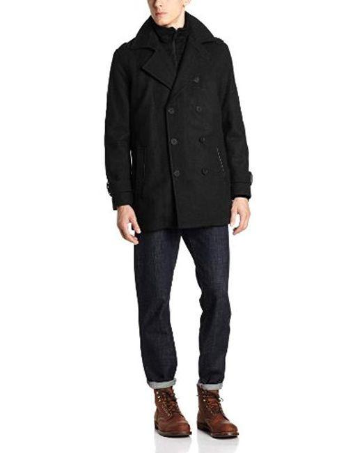 Marc New York - Black Penn Coat for Men - Lyst