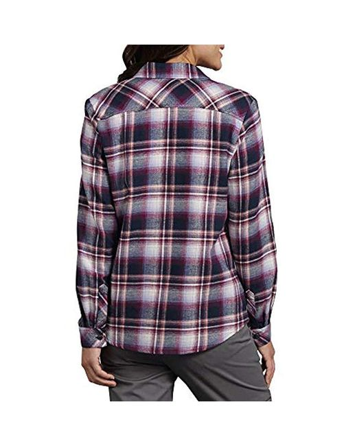 172a40a951fae ... Dickies - Blue Plus-size Long Sleeve Plaid Flannel Shirt - Lyst ...