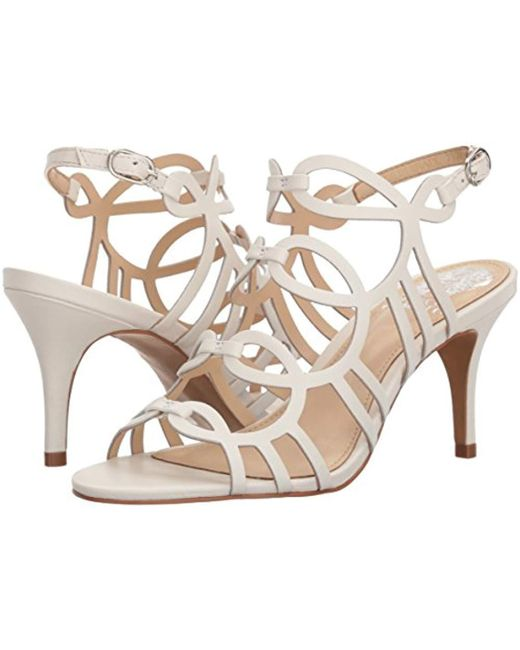 485c5507f0d Lyst - Vince Camuto Petina Heeled Sandal in White - Save 40%