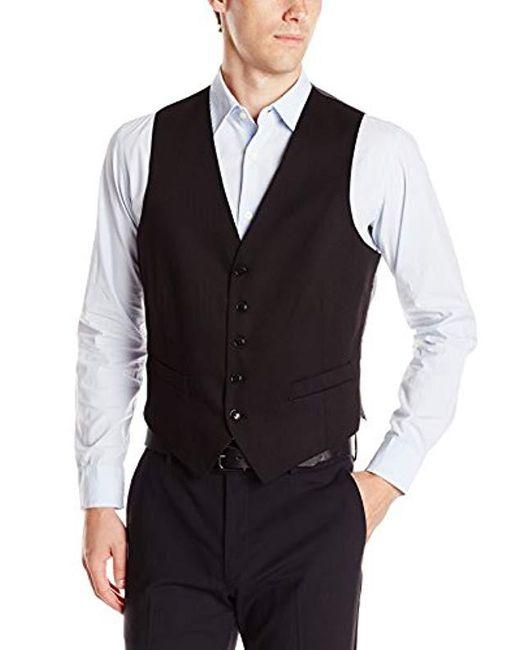 Perry Ellis Black Slim Fit Suit Separate (blazer, Pant, And Vest) for men