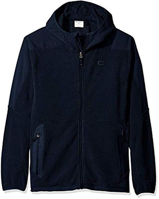 20381005028 Champion - Blue Tall Size Hooded Textured Fleece Jacket for Men - Lyst ...