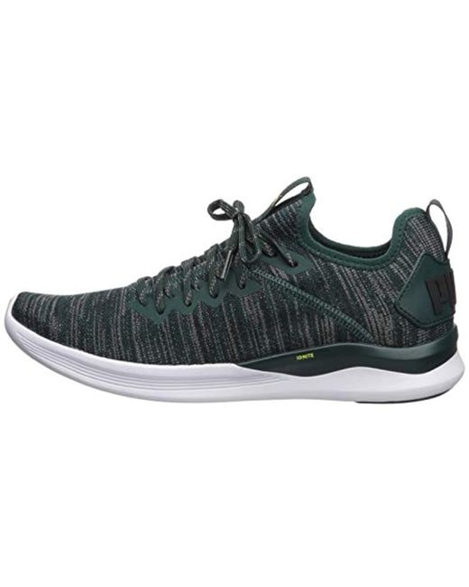 newest 723e0 842b2 PUMA - Black Ignite Flash Evoknit Sneaker for Men - Lyst