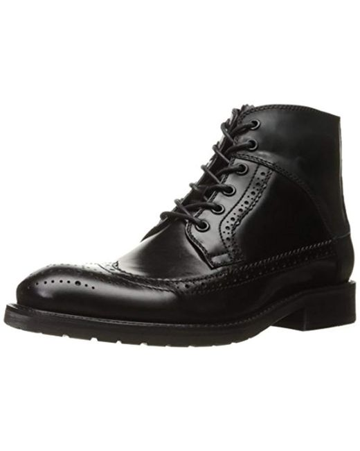 Kenneth Cole - Black Knock-out Combat Boot for Men - Lyst