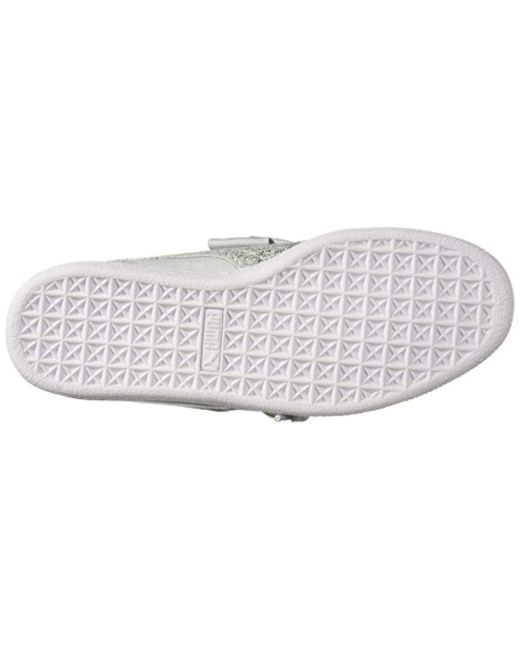 6d129cc84110 Lyst - PUMA Basket Heart Canvas Wn Sneaker in White - Save 26%