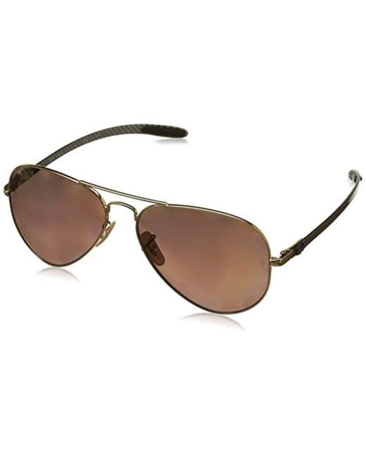 297726bbe4 Ray-Ban - Metallic Rb8317ch Chromance Lens Aviator Sunglasses for Men - Lyst  ...
