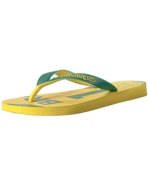 065dcbeac8071 Lyst - Havaianas Teams Iii-brazil Sandal Yellow green in Yellow