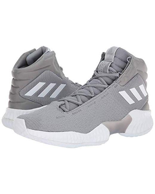 8c04f58fc ... Adidas Originals - Gray Pro Bounce 2018 Basketball Shoe for Men - Lyst  ...