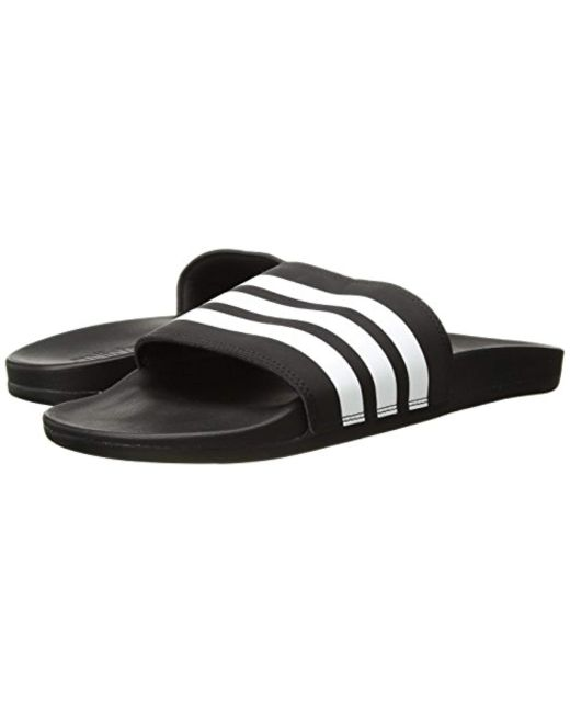 e2d1a48d4 ... Adidas - Black Adilette Comfort Slide Sandal for Men - Lyst ...