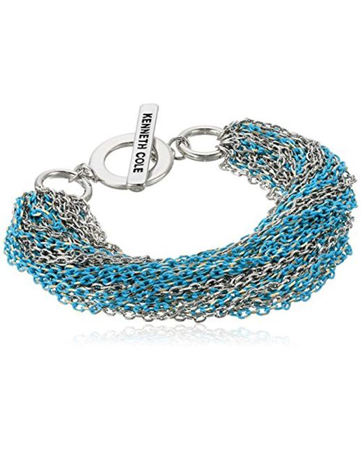 Kenneth Cole - Blue Multi Chain Bracelet, Aqua, One Size - Lyst
