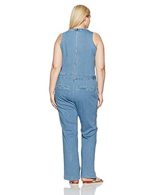 4719b547512 ... RACHEL Rachel Roy - Blue Plus Size Cutout Jumpsuit - Lyst