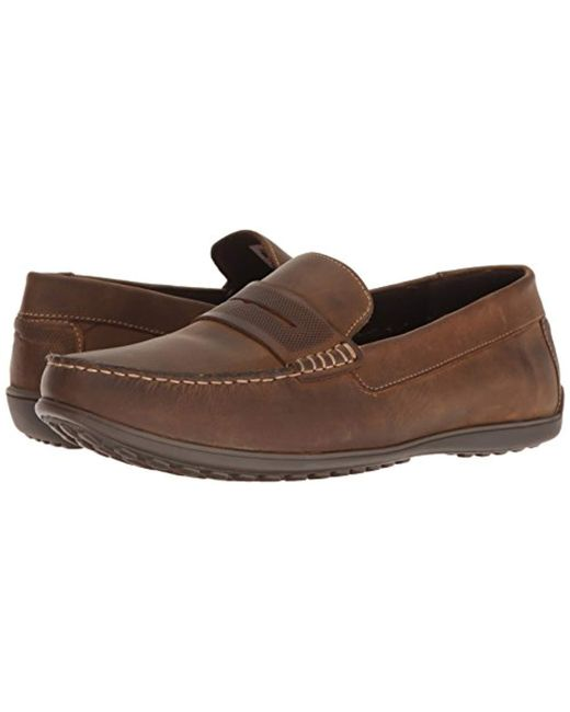 430e4d28fb9 Lyst - Rockport Bayley Penny Shoe in Brown for Men - Save 60%